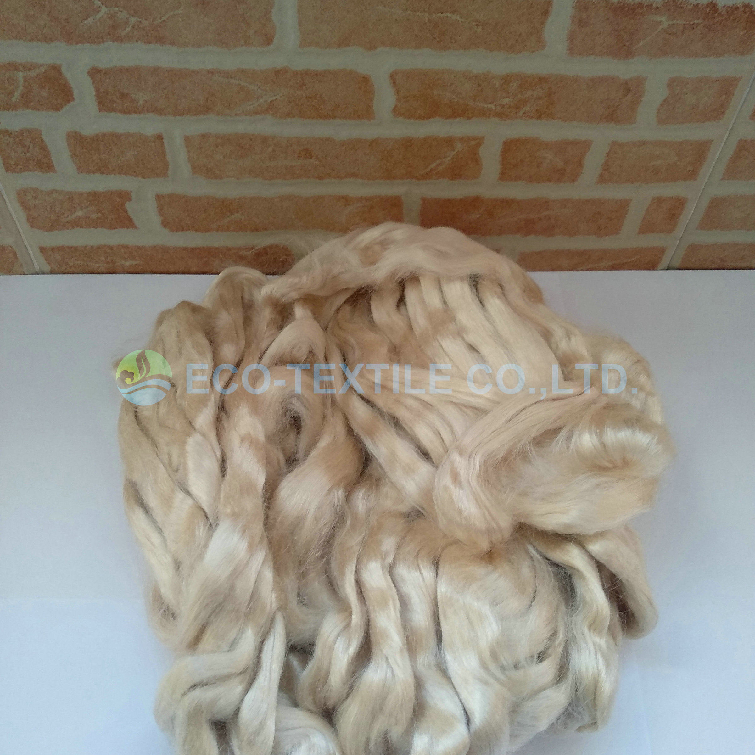 NATURAL GOLDEN BROWN TUSSAH SILK SLIVER-10g/m
